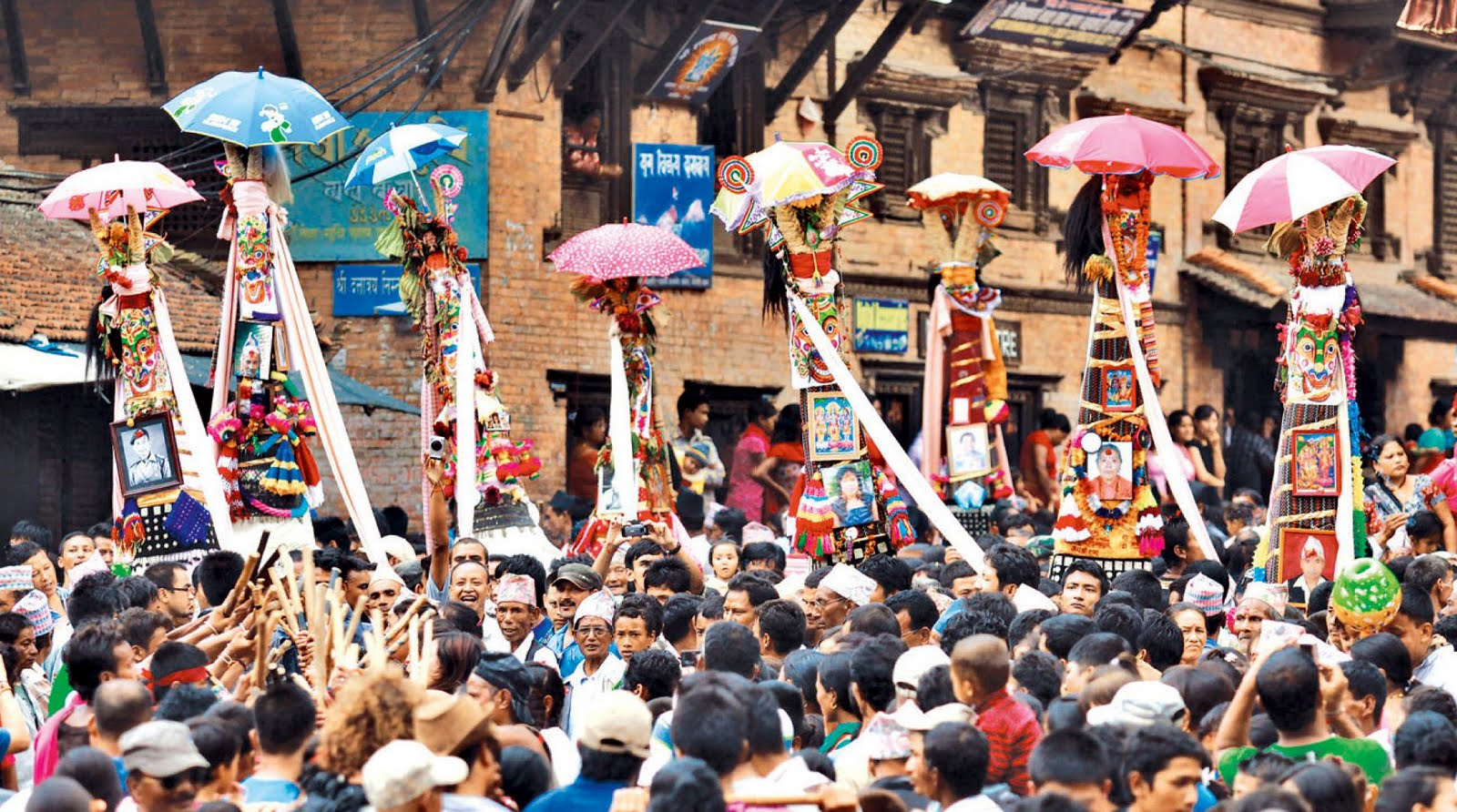 Gai jatra, the festival of death, dance and satiric street performances image