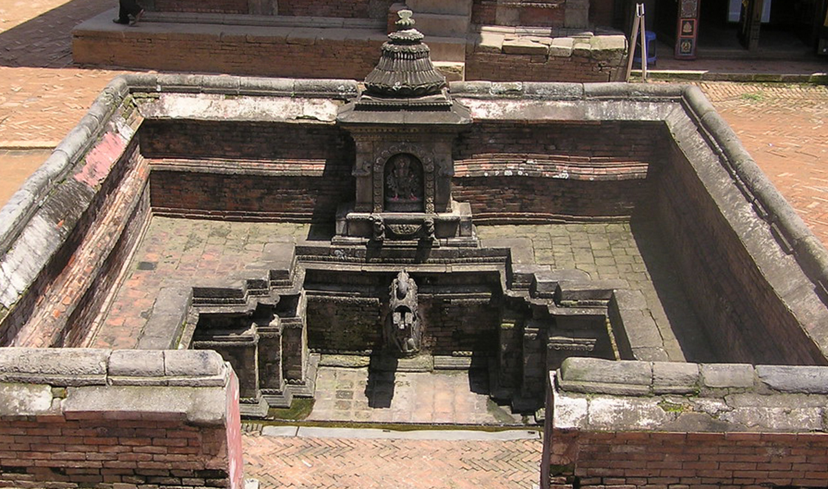 Layekuhiti ( Sunken hiti); an extreme example of stone carvings in Bhaktapur Durbar Square image