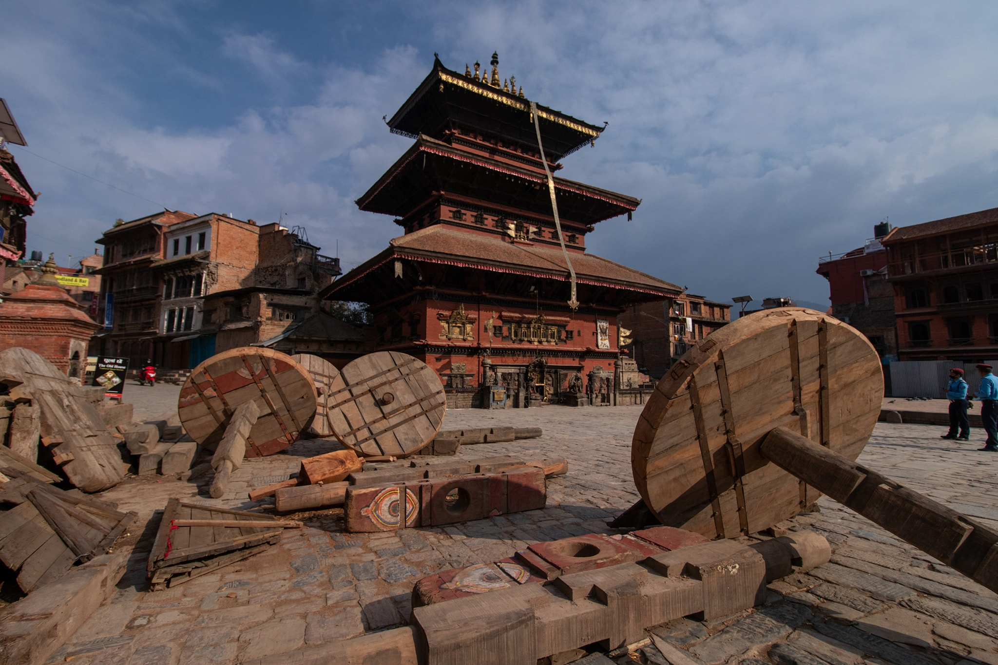 During Corona lockdown at Bhaktapur image