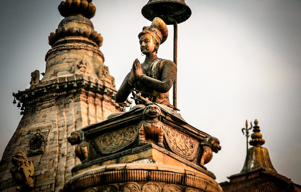 Statue of king bhupatindra Malla image