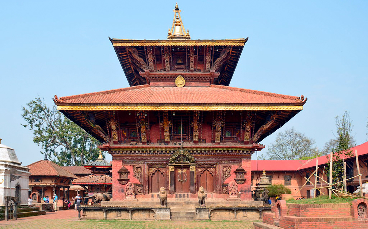 Changu Narayan temple; the oldest temple of Nepal image