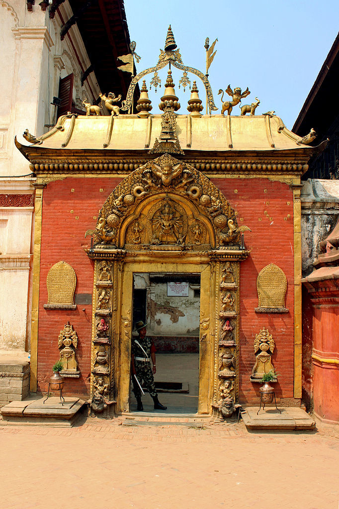 Golden gate; an alluring masterpiece of Bhaktapur Durbar Square image