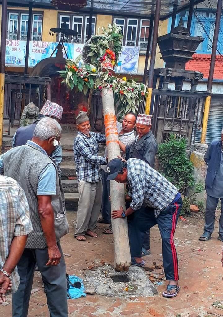 Indra jatra in Bhaktapur