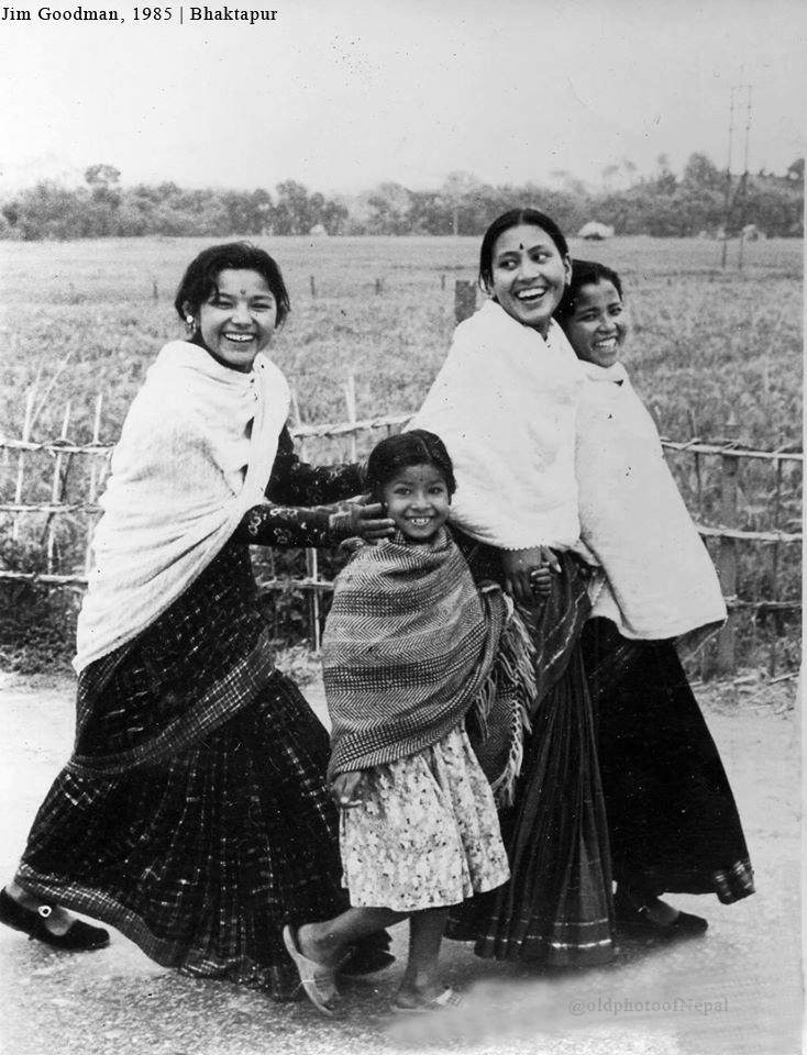 A group of Newar girls and women on the northern rim of Bhaktapur 1985 image