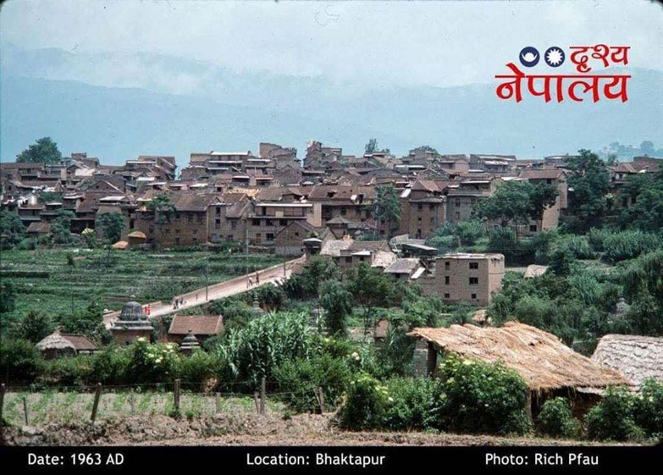 View of Bhaktapur City from Barahisthan image