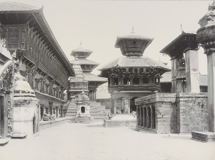 Bhaktapur Durbar Square before 1990 earthquake in Nepal image