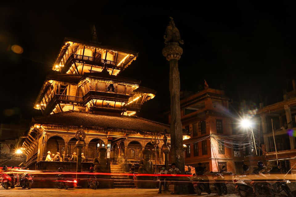 Dattatreya Temple at Night image