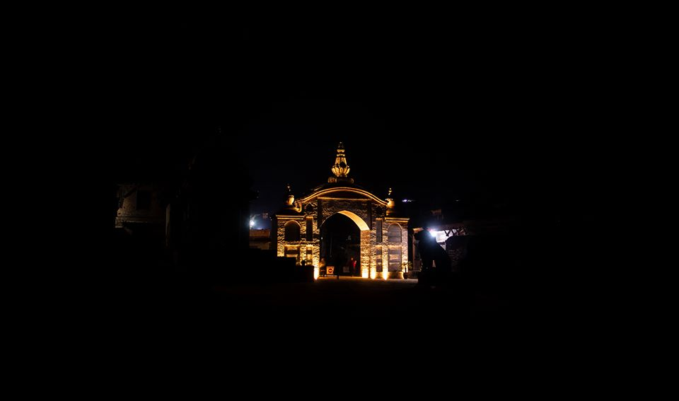 Entrance Gate Of Bhaktapur Durbar Square During Night Time image