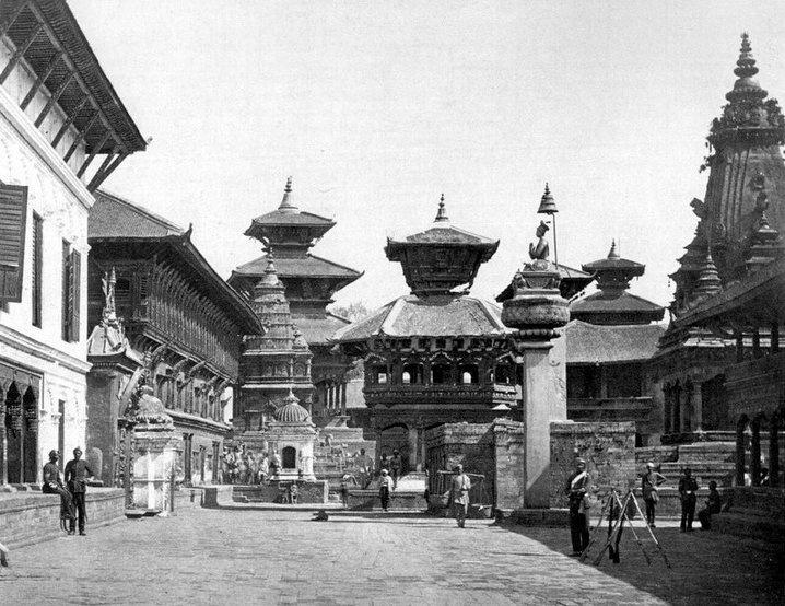 Policemen on Duty in Bhaktapur Durbar Square image