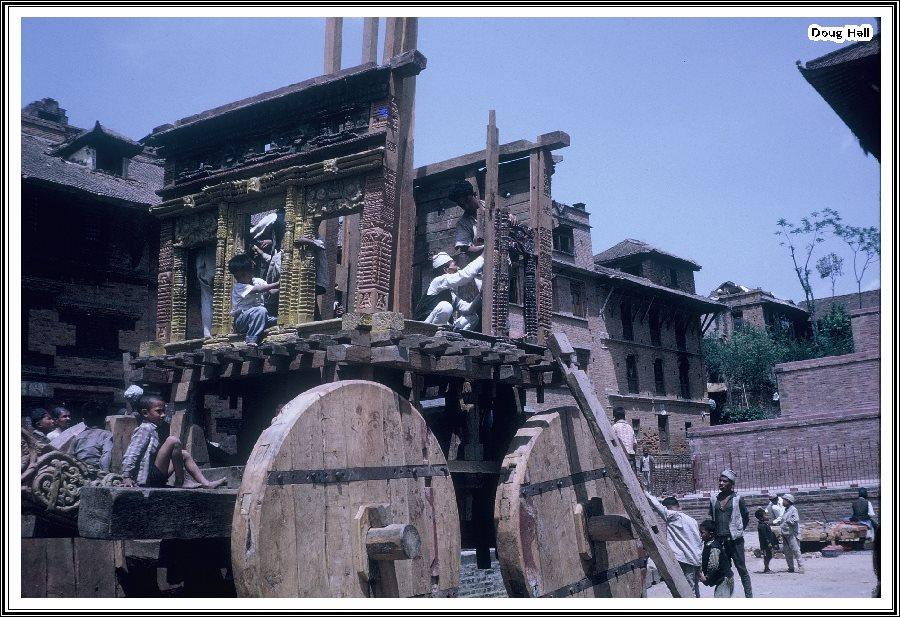 Preparation for Bisket Jatra, 1963 image
