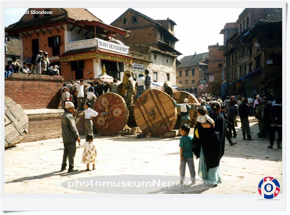 Preparation for Bisket Jatra, late 90 image