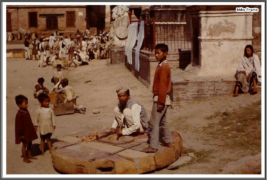 Preparation of the chariot for Bisket Jatra, 1963 image