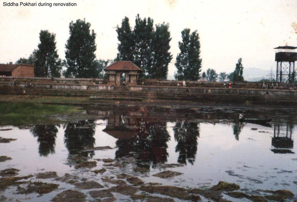 Siddha Pokhari during Renovation image