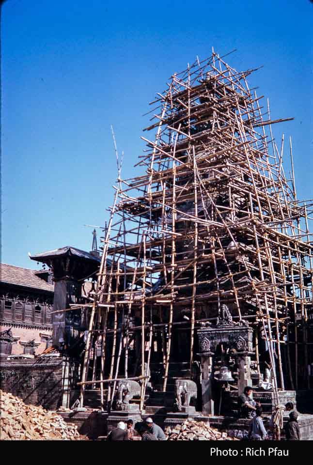 Vatsala Devi Temple restoration in 1975 image