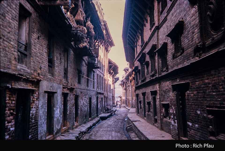 Traditional Bhaktapur street image