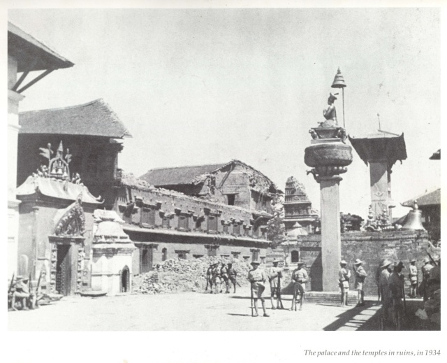 Bhaktapur Durbar Square after 1990 earthquake in Nepal image