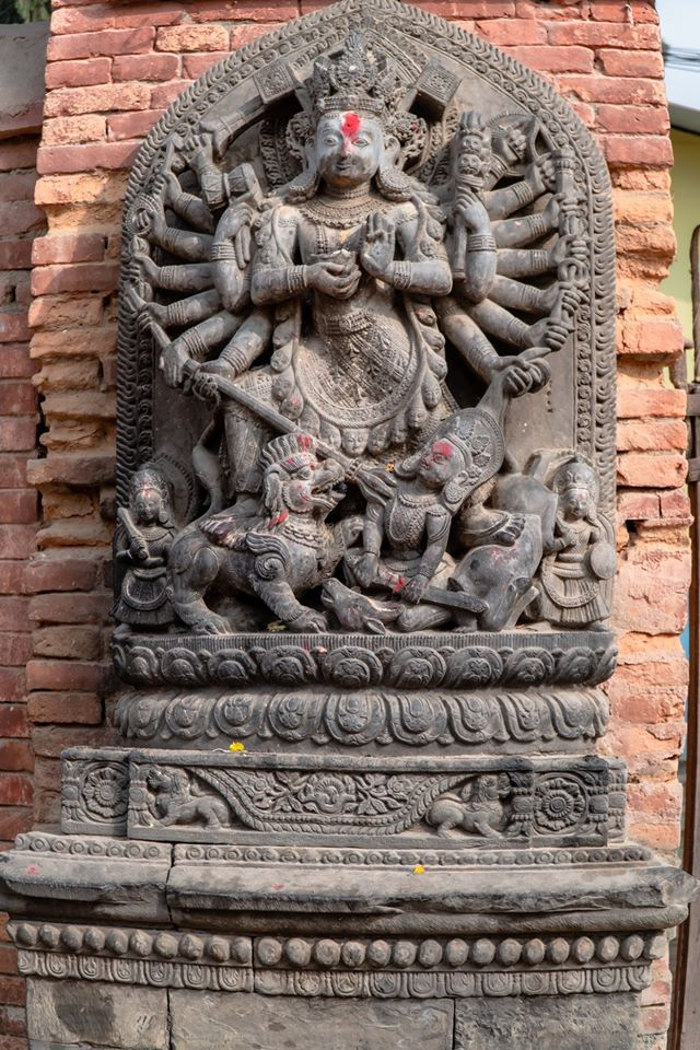 The sculpture of Ugrachandi sculpted in the year 1707 BS image