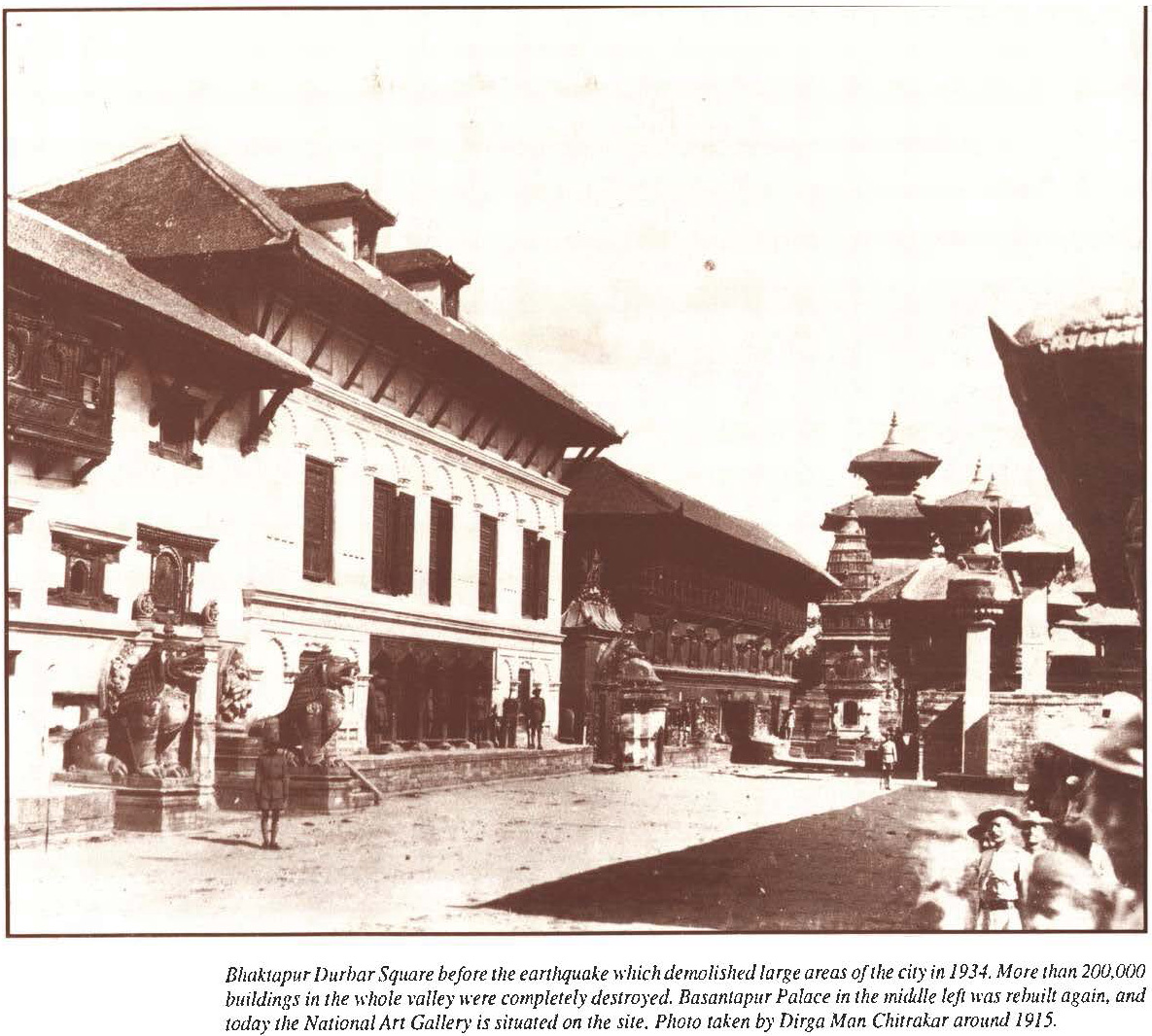 Bhaktapur durbar Square around 1915 AD image