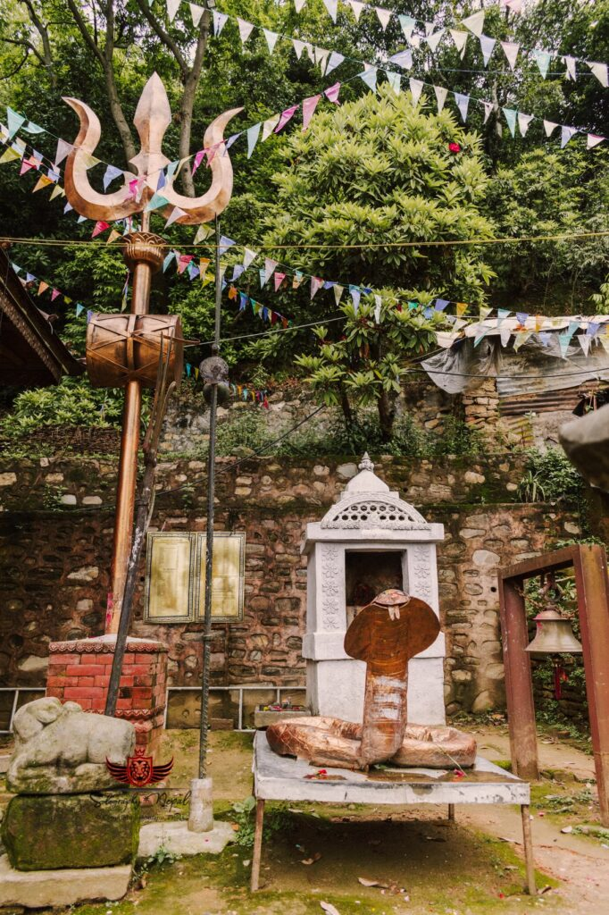 Trishul and an image of snake at anantalingeshwor