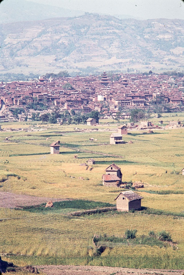 View of Bhaktapur from Suryabinayak in 1972 AD image