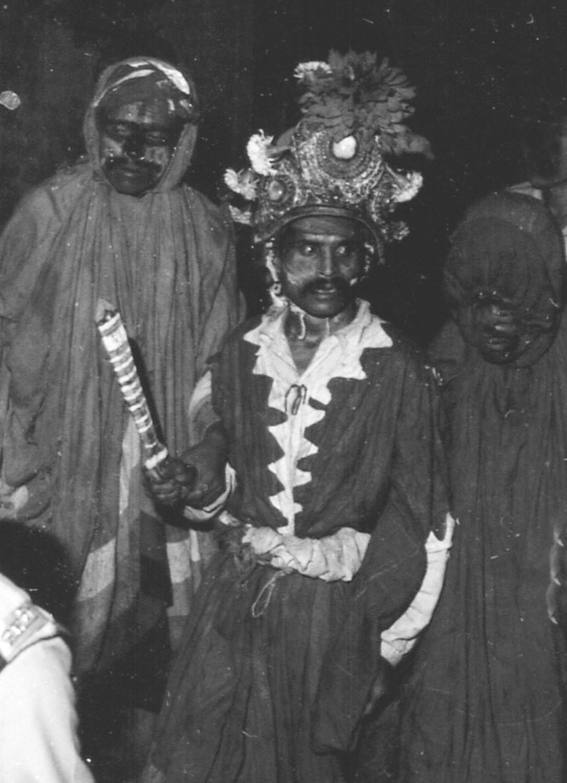 The demon Mupatra makes the rounds–Bhaktapur Indrajatra, early 80s image