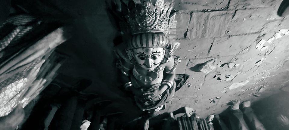 Bhagasti, The death of the nine Durga image