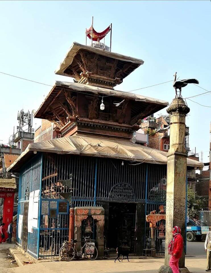 Balkumari Temple of Thimi; a temple in the middle of the city image