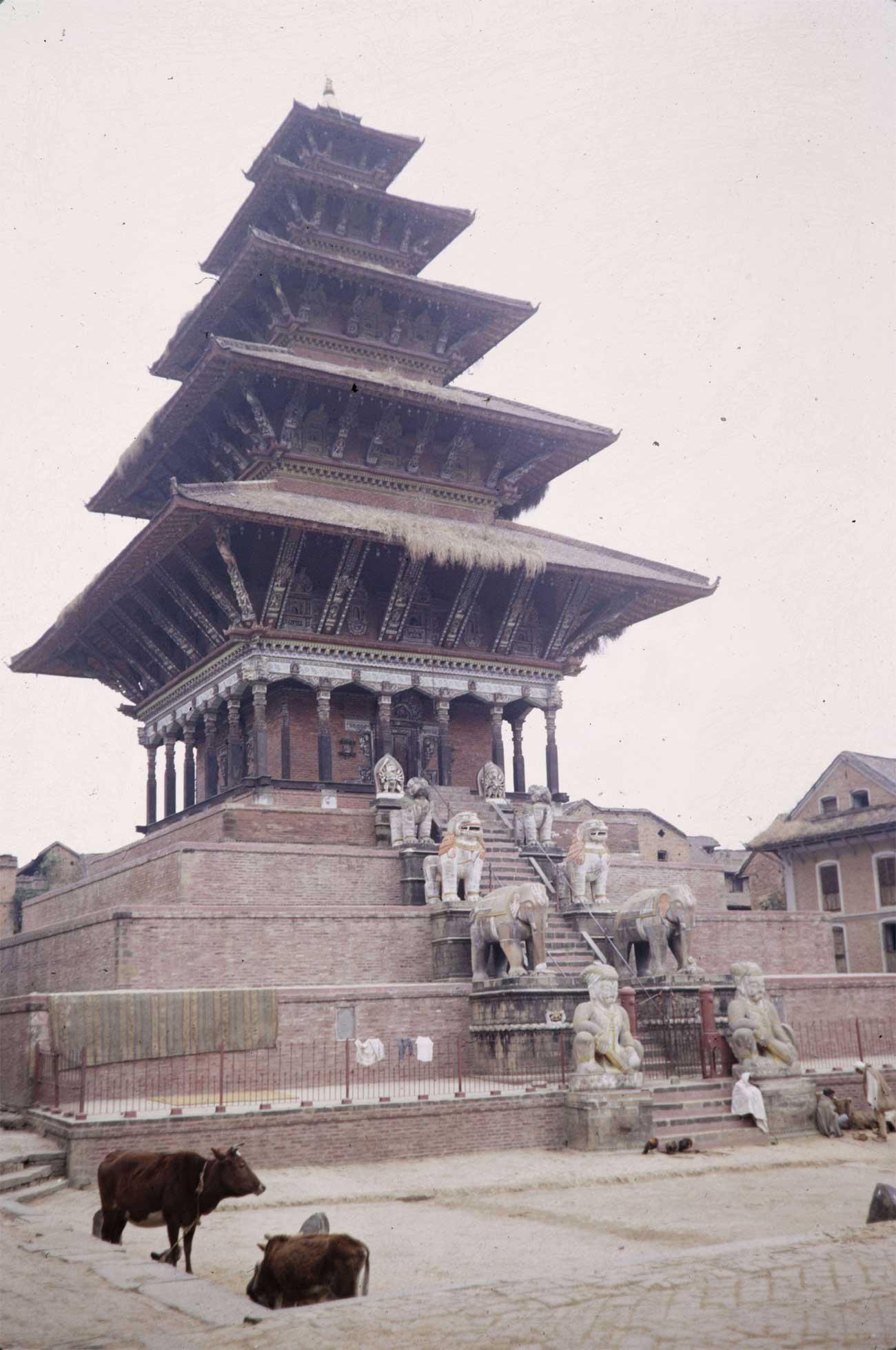 Nyatapola Temple in Bhaktapur Nepal (1960s) image