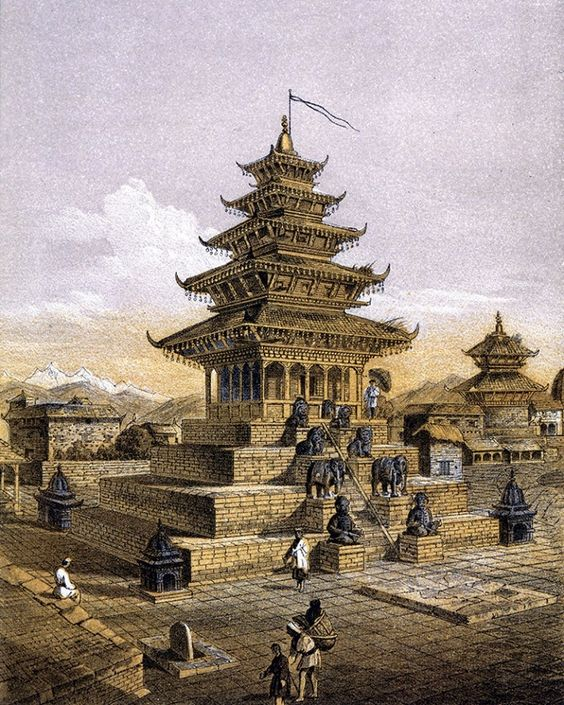Painting of Nyatapola temple image