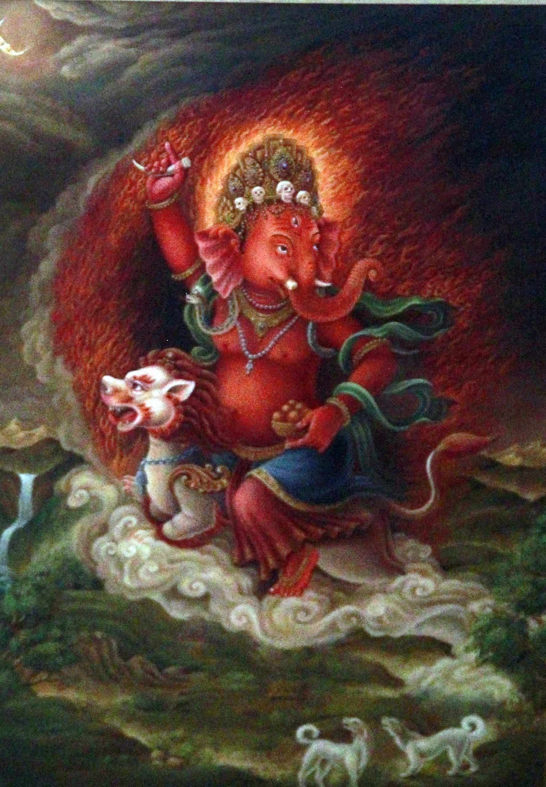 Ganesha Chaturdashi ( Cho: tha); one evening celebration image