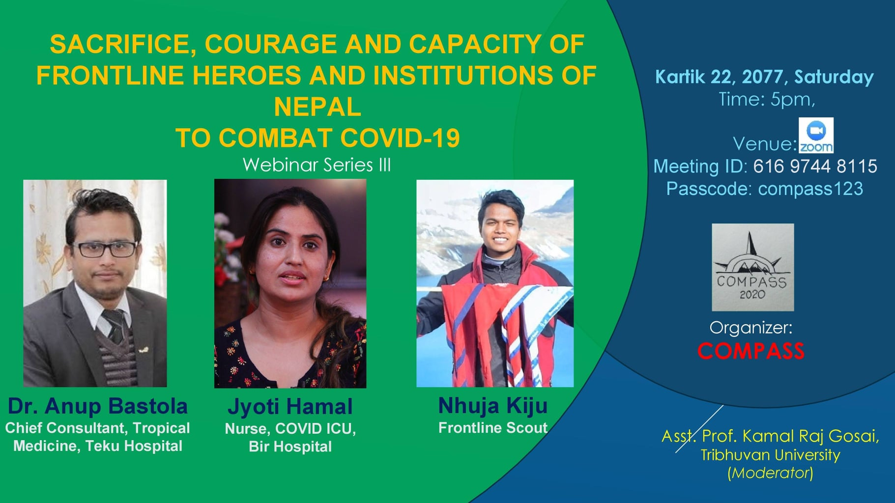 Sacrifice, Courage and Capacity of Frontline heroes and Institutions of Nepal to combat Covid-19 image