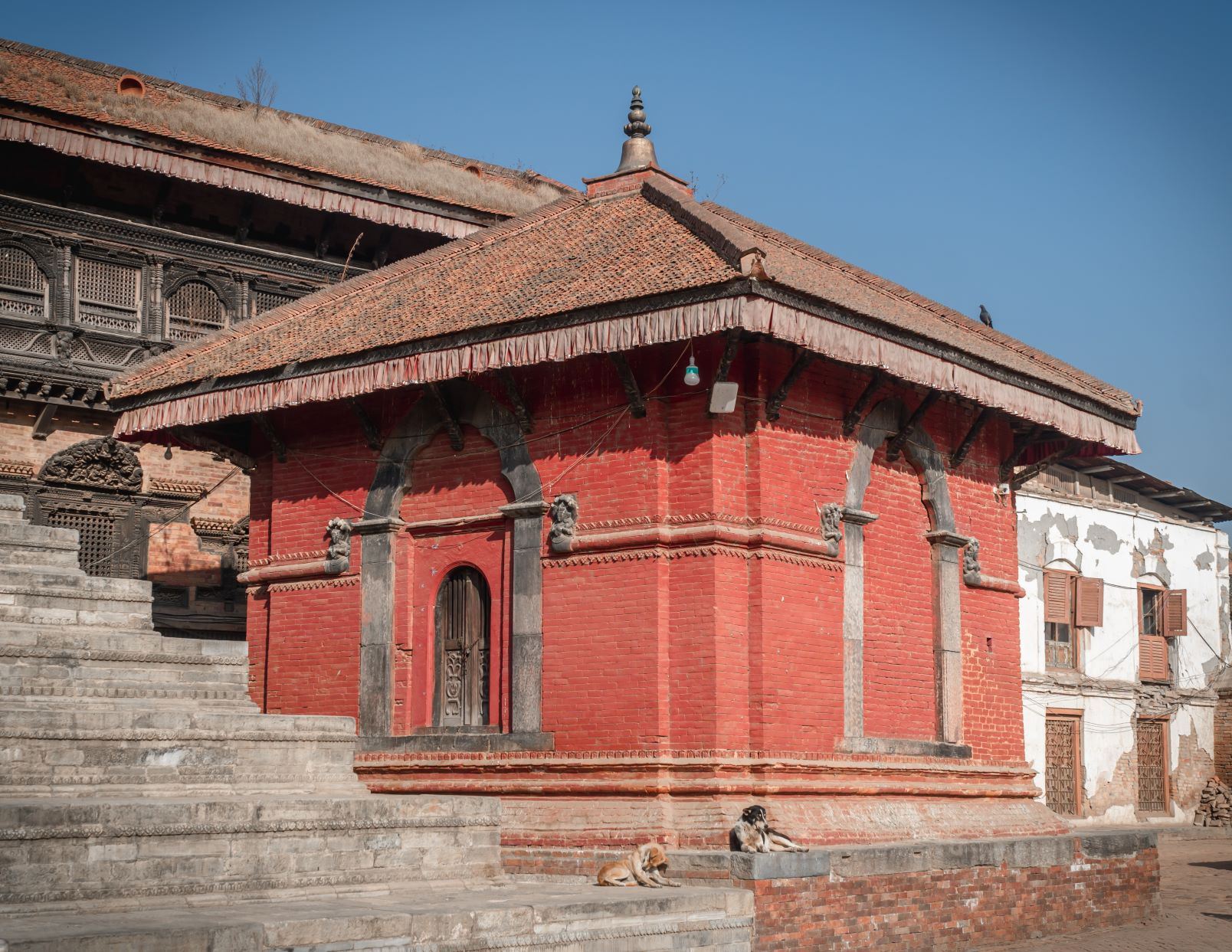 Annapurna ; the red temple of Bhaktapur Durbar Square image