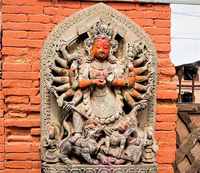 the statue of Goddess Ugrachandi