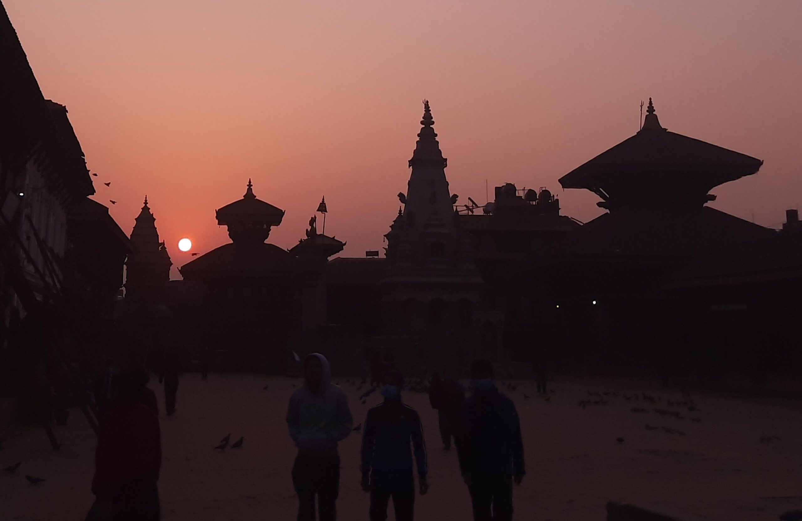 Sun rise at Durbar Square Bhaktapur image