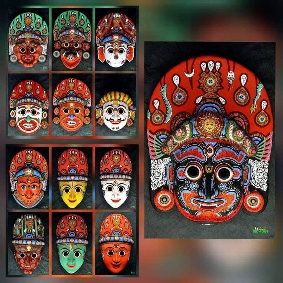The set of Nava Durga Masks (13 masks) image