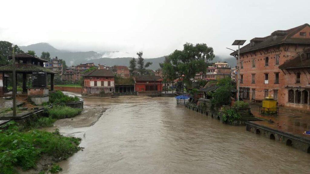 Hanuman ghat during monsoon