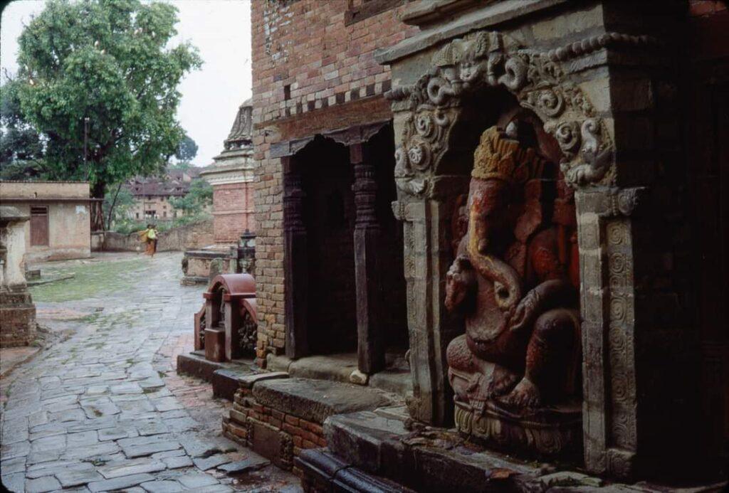 old photo of Hanuman ghat