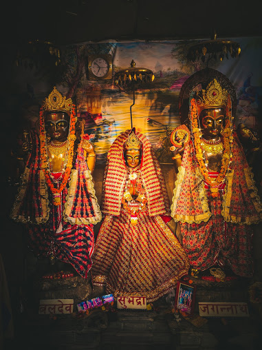 Jagannath, Subhadra and baladev
