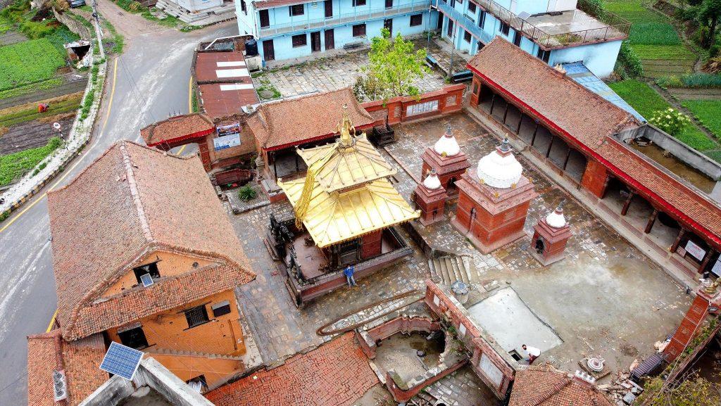 aerial view of siddhilaxmi temple