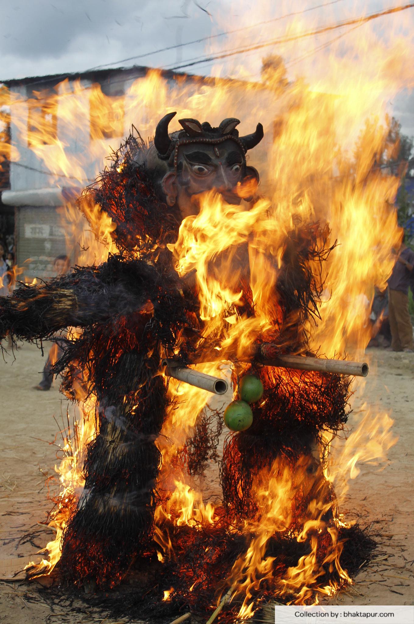Ghathamangal Burning image