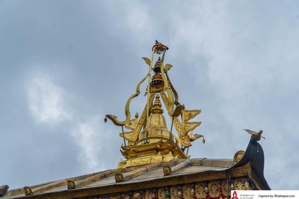golden pinnacle of siddhi kali temple